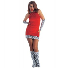 Go Go Girl Dress Adult Fancy Dress Costume Ladies (Pimp)