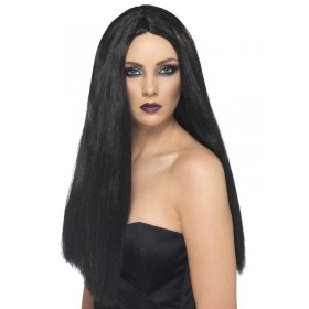 Witch Wig - Fancy Dress Ladies (Halloween) - Black