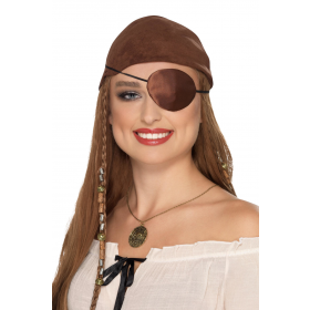Deluxe Pirate Eyepatch Fancy Dress