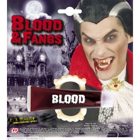Blood Tubes With Fangs - Fancy Dress