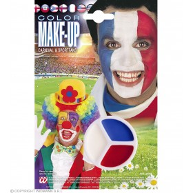 Tricolour Makeup Blue/White/Red - Fancy Dress