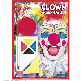 Clown Makeup Set W/Nose - Fancy Dress (Clowns)