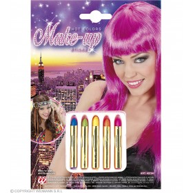 Hot Colour Makeup Sticks - Fancy Dress