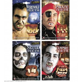 Deluxe Rubber Dentures 4 Styles - Fancy Dress