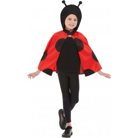 Ladybird Hooded Cape Animals Fancy Dress