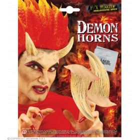 Devil Horns With Adhesive Flesh Colour - Fancy Dress (Halloween)