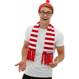 Where's Wally? Kit WALLY (Official Licensed) Fancy Dress