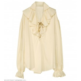 Pirate Shirt Ladies Beige Fancy Dress Costume (Pirates)