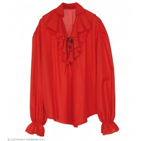 Pirate Shirt Ladies Red Fancy Dress Costume (Pirates)
