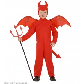 Devil Child Jumpsuit, Headpiece, Wings Costume (Halloween)