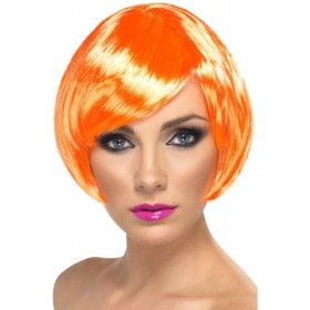 Babe Wig Coral - Fancy Dress Ladies