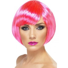 Babe Wig - Fancy Dress Ladies - Pink