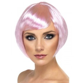 Babe Wig Pink - Fancy Dress Ladies