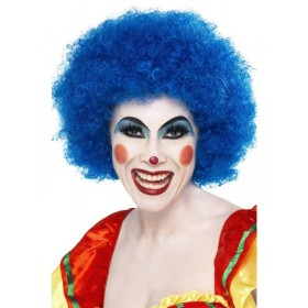 70S Funky Afro Blue Wig - Fancy Dress (1970S)