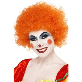 70S Funky Afro Orange Wig - Fancy Dress (1970S)