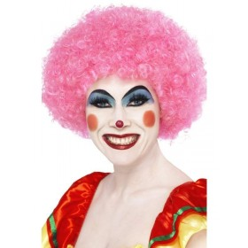70S Funky Afro Pink Wig - Fancy Dress (1970S)
