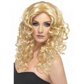 Blonde Glamour Wig - Fancy Dress Ladies - Blonde