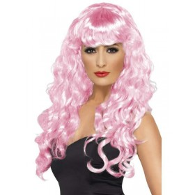 Siren Wig - Fancy Dress Ladies - Pink