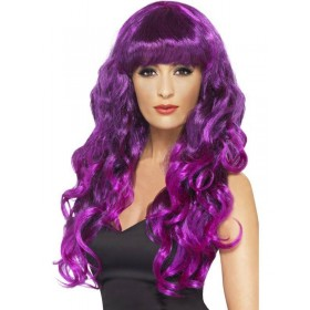 Siren Wig - Fancy Dress Ladies - Purple