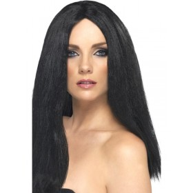 Star Style Wig - Fancy Dress Ladies - Black