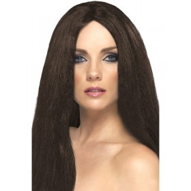 Star Style Wig - Fancy Dress Ladies - Brown