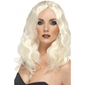 Superstar Wig Platinum Blonde - Fancy Dress Ladies