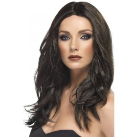 Superstar Wig Dark Brown - Fancy Dress Ladies