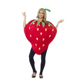 StrawBerry Fancy Dress Costume With Headpiece