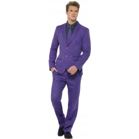 Men'S Purple Stand Out Suit Fancy Dress Costume