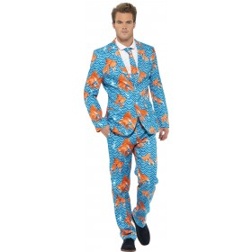 Men'S Tropical Goldfish Stand Out Suit Fancy Dress Costume