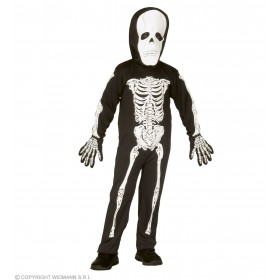 Skeleton With Jumpsuit, Mask  Fancy Dress Boys (Halloween)