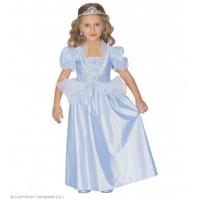 Light Blue Princess & Dress Costume Age 4-5 Girls (Royalty)