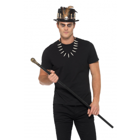 Voodoo Kit, with Feather Top Hat Halloween Fancy Dress