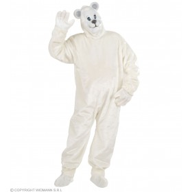 Plush Polar Bear Costume Adult Fancy Dress Costume (Animals)