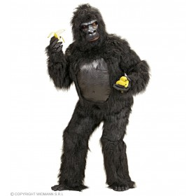 Plush Gorilla Costume Adult Fancy Dress Costume (Animals)