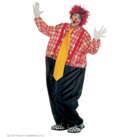 Fat Clown Costume Fancy Dress Costume Mens Size 40-44 M (Clowns)