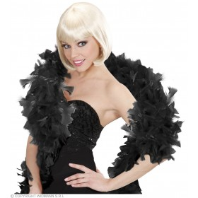 Feather Boa Black 180Cm - Fancy Dress