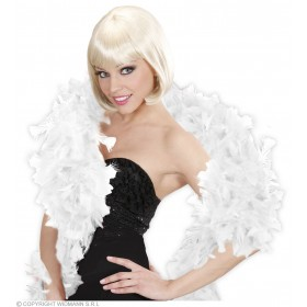 Feather Boa White 180Cm - Fancy Dress