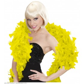 Feather Boa Yellow 180Cm - Fancy Dress
