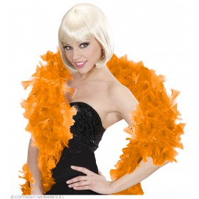 Feather Boa Orange 180Cm - Fancy Dress