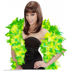 Feather Boa Green/Lime Deluxe 180Cm - Fancy Dress