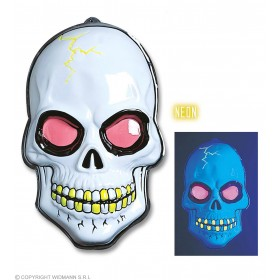 3D Neon Skull Decoration 56X38Cm - Fancy Dress (Halloween)