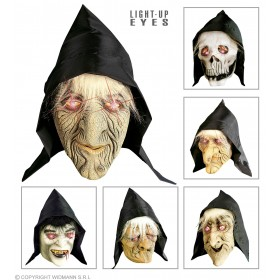 Hooded Mask Light Up Eyes & Hair - Fancy Dress