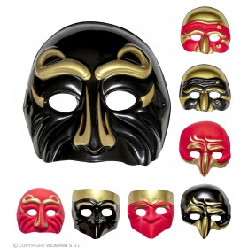 Plastic Art Comedy Mask 4 Styles 2 Cols - Fancy Dress