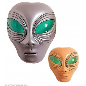 Alien Mask Plastic - Fancy Dress