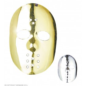Hockey Mask Gold/Silver - Fancy Dress