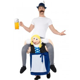 Piggyback Bavarian Beer Maiden Costume