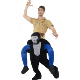 Piggyback Gorilla Fancy Dress Costume