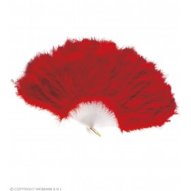 Feather Fan Red - Fancy Dress