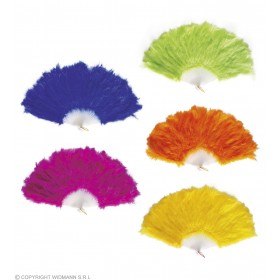 Feather Fan Various Colours - Fancy Dress